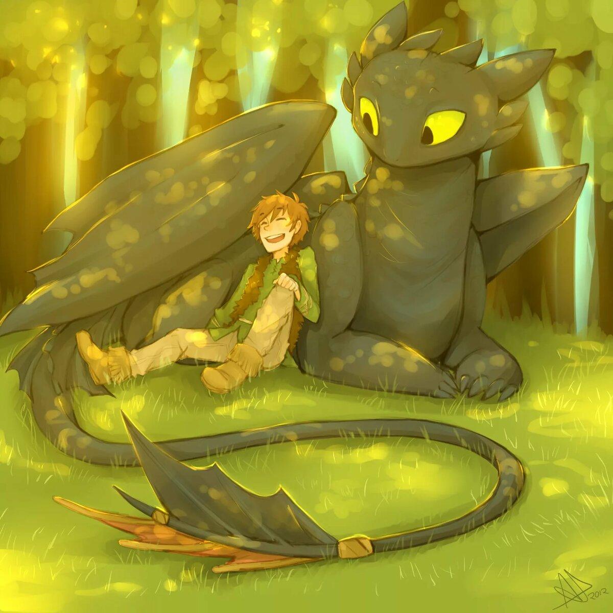 арты как приручить дракона ребенка означало