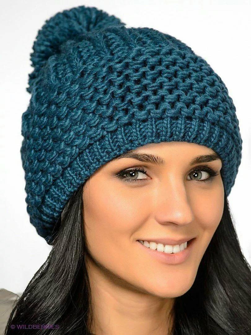 Вязание женских шапок спицами в картинках