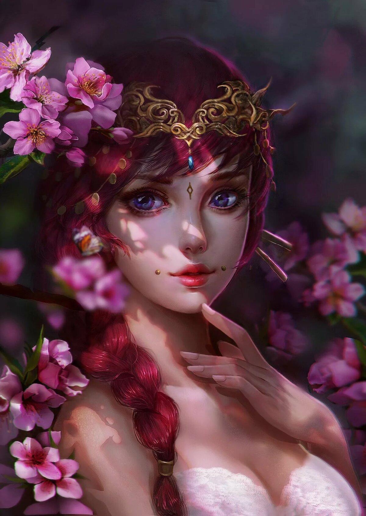 Красивы картинки девушки фэнтези