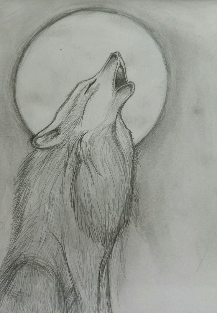 Грустные картинки волков для срисовки карандашом