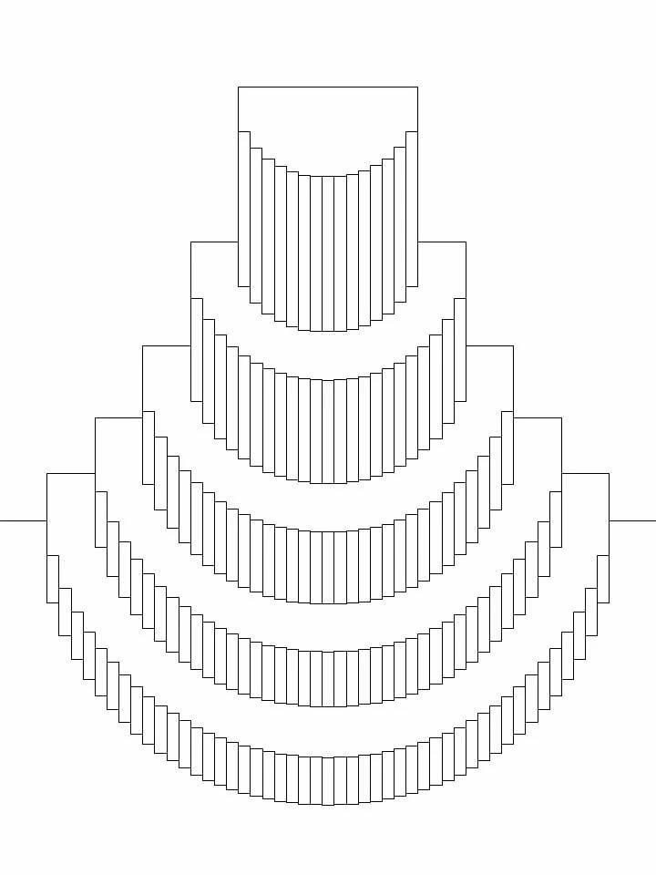 Схема объемной открытки распечатать