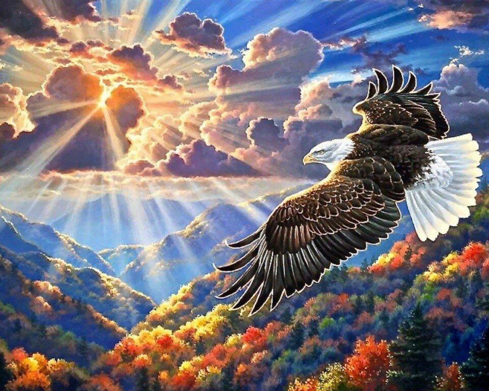 Открытка славяне с годом парящего орла