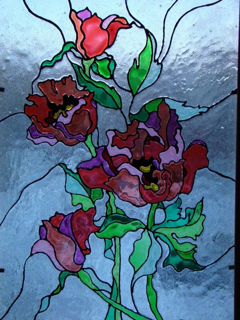 Картинки цветов на стекле цветы