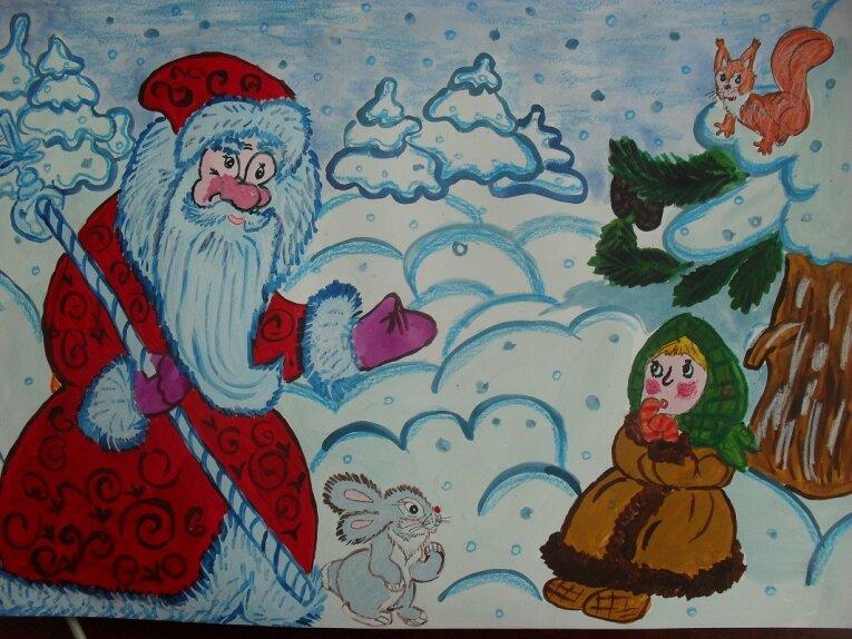 домик картинки карандашами к сказке морозко лепнины краской