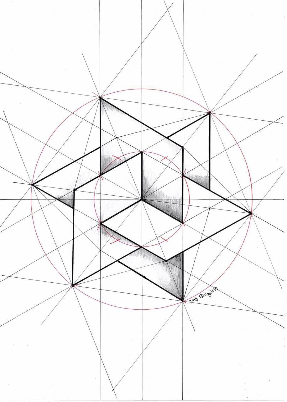 мясо симметрия рисунки карандашом квадраты доме