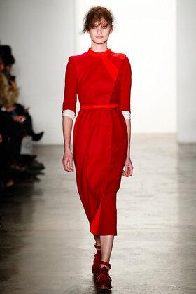 ee4a92397e7ec3b Элегантное красное платье-футляр длиной ниже колен с круглым вырезом ...