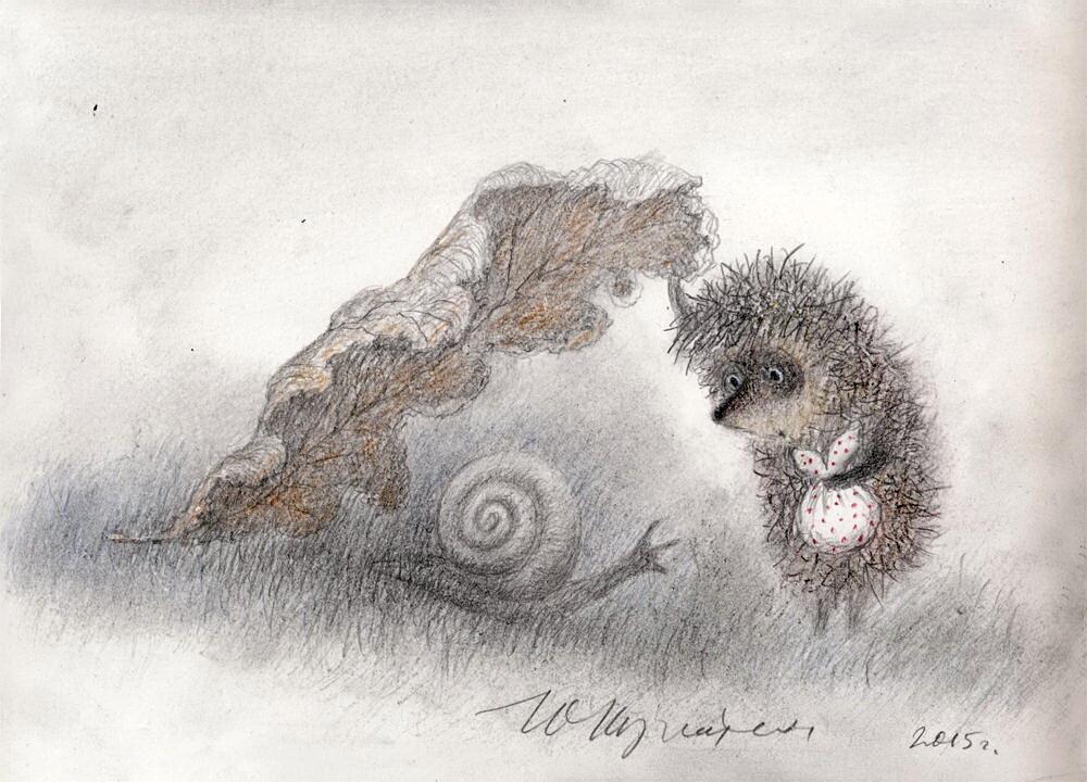 Картинки с надписью ежик в тумане мультик