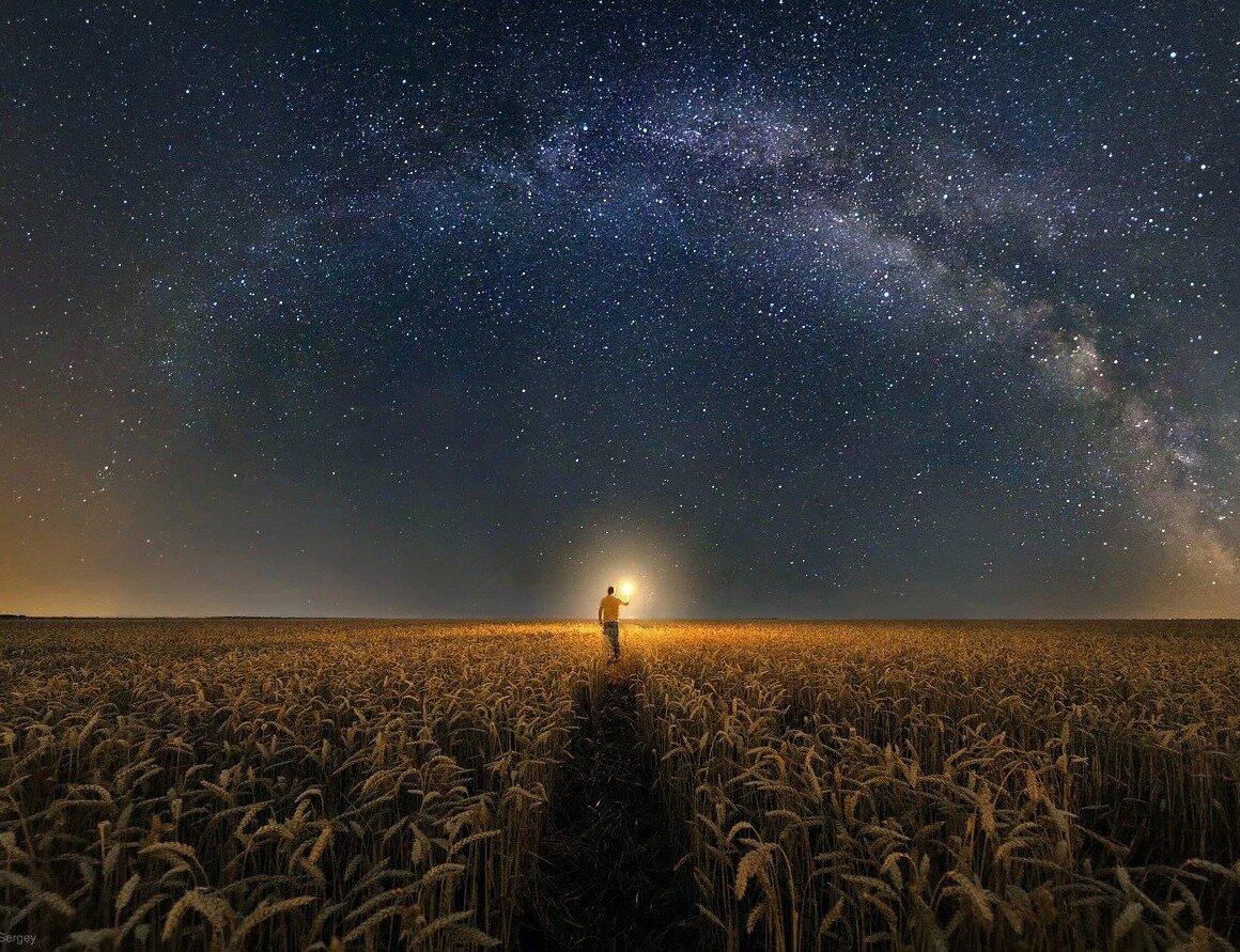 это картинки ночью в поле звезд благодать проходит