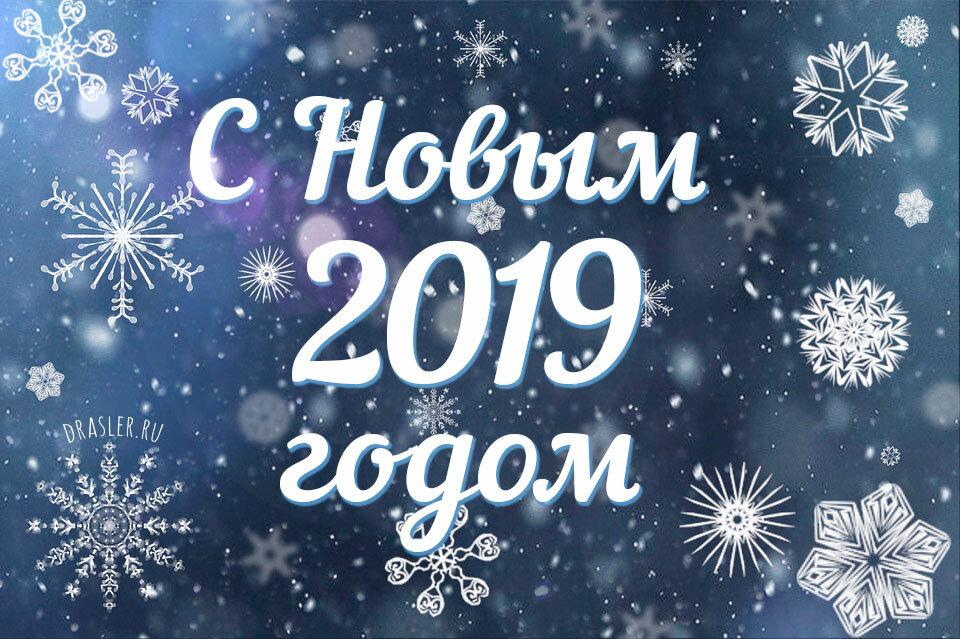 Открытка с новогодним пожеланием 2019, родители дети