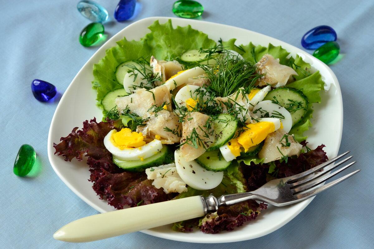 салат из запеченной рыбы рецепты с фото способ приготовления
