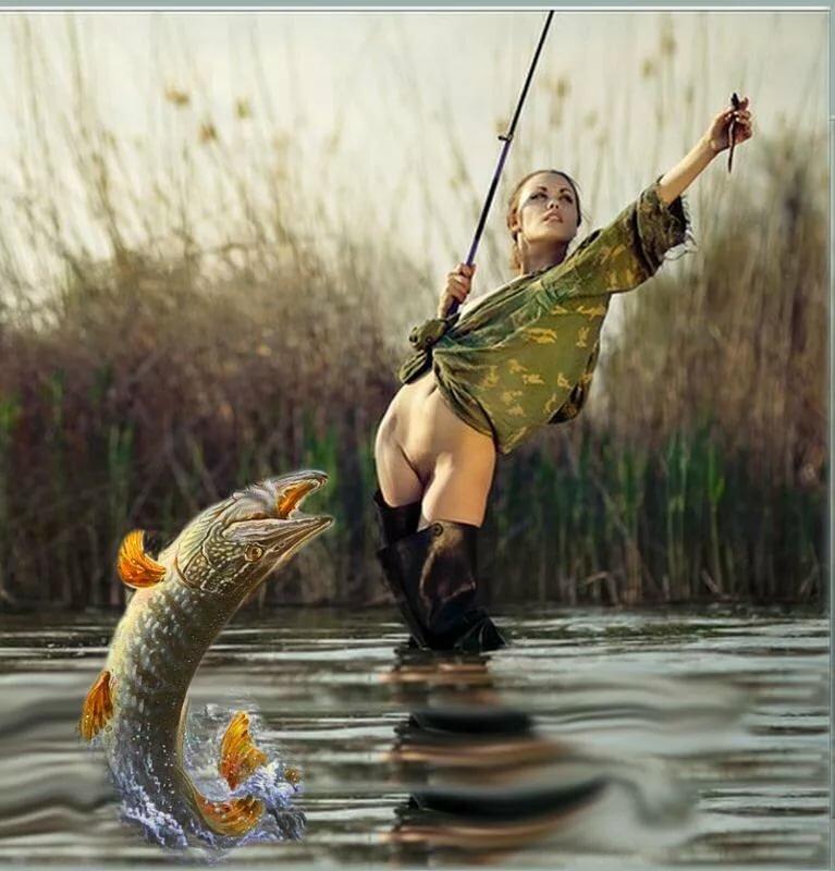 Прикольные картинки с девушками на рыбалке, новому году своими