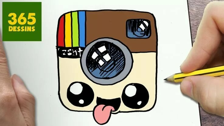 Comment Dessiner Logo Instagram Kawaii étape Par étape