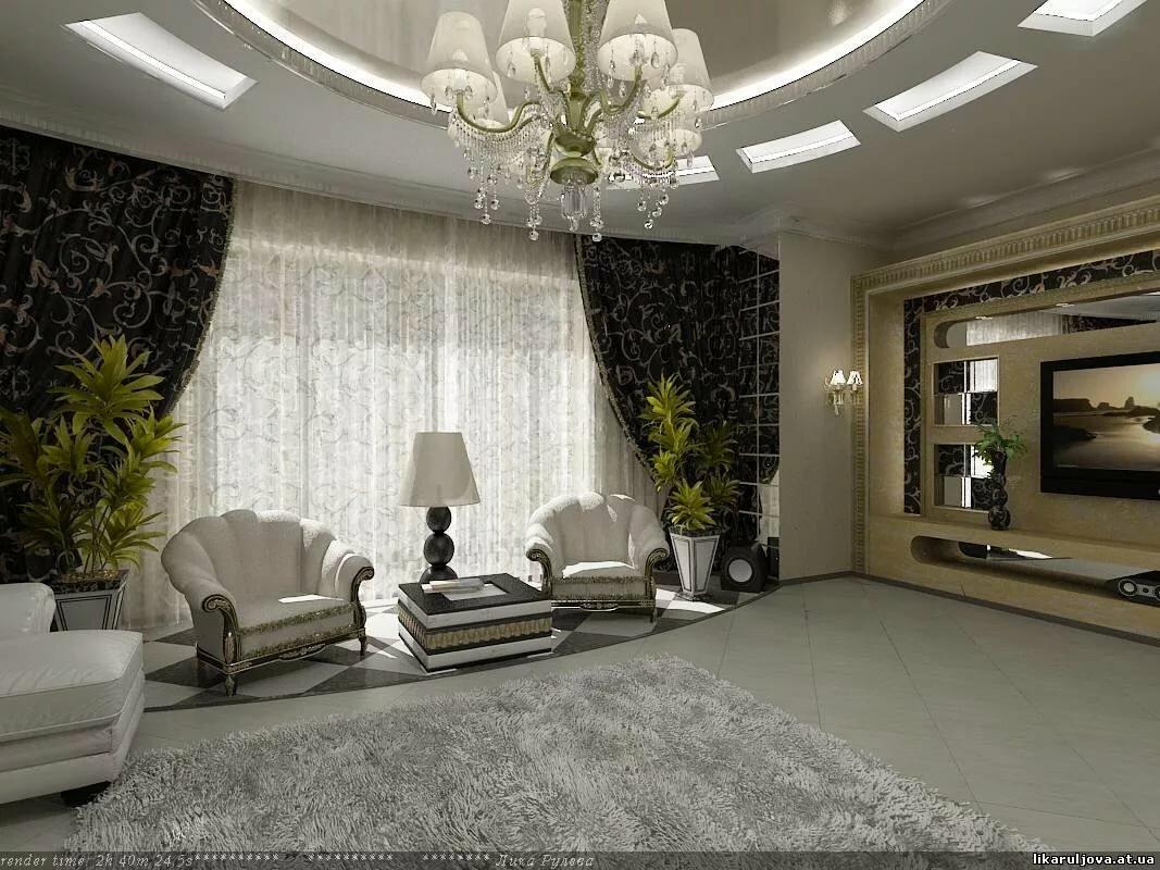 подобранная рамка отделка зала в частном доме фото часто