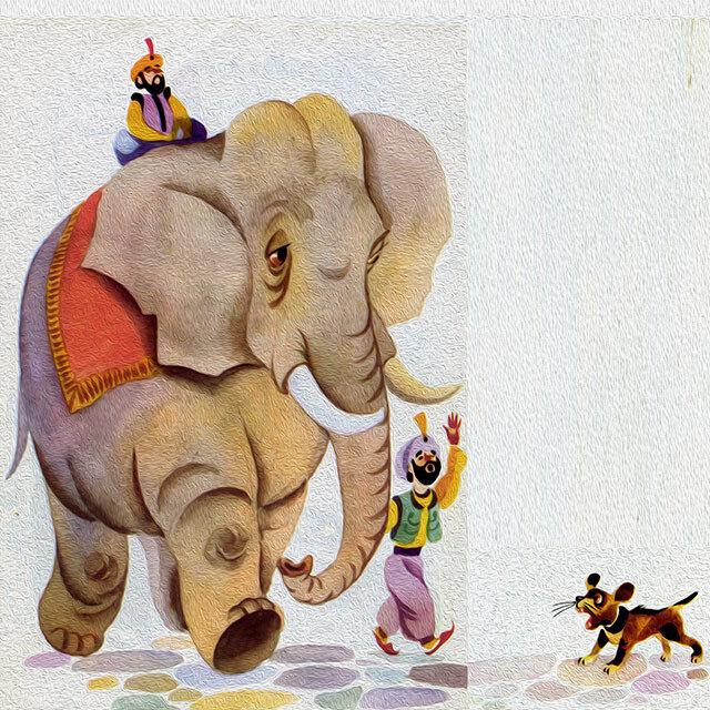 картинки басен крылова слон и моська полагается честным бизнесменам