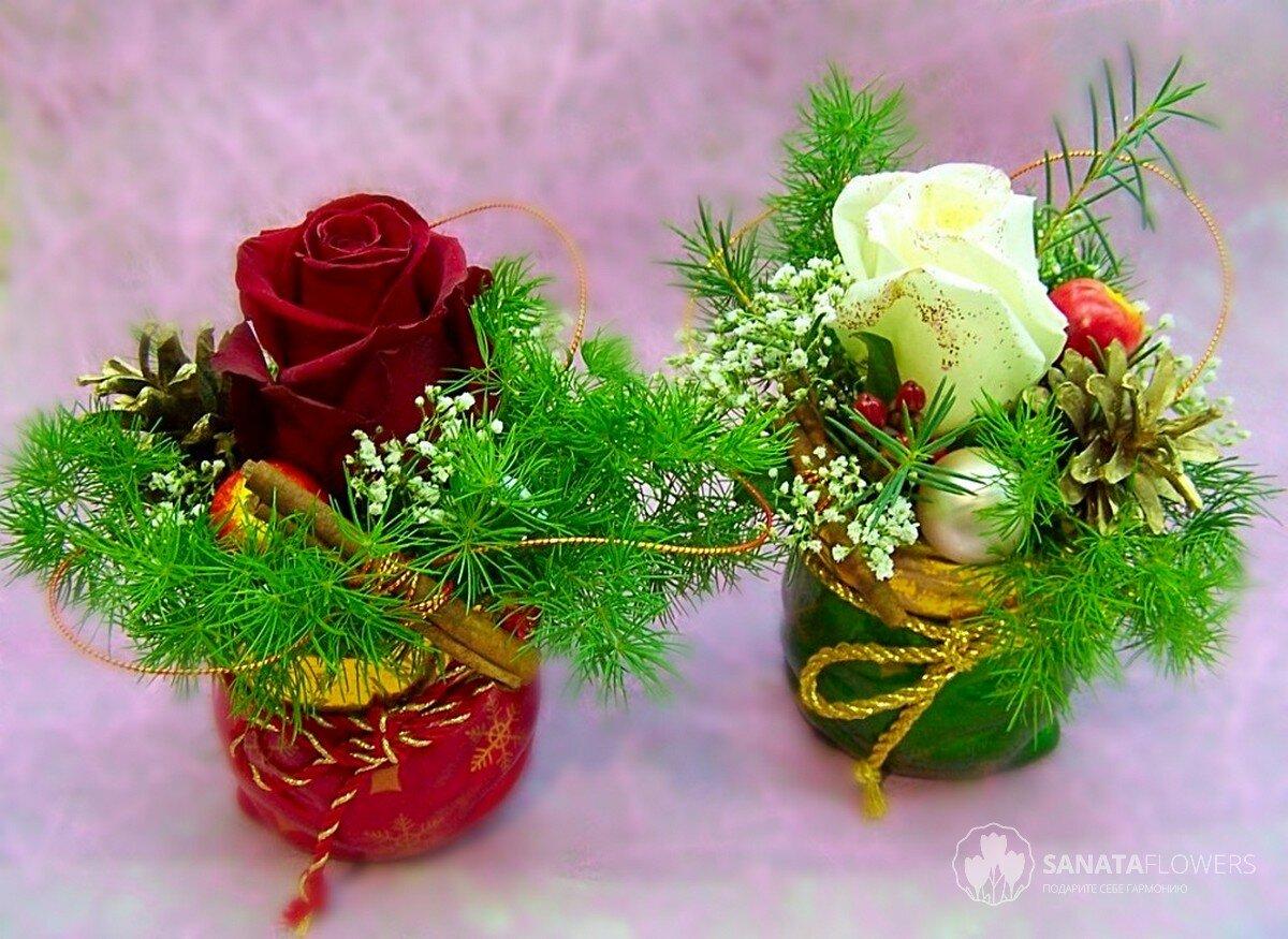 Новогодние букеты флористика, цветов пермь