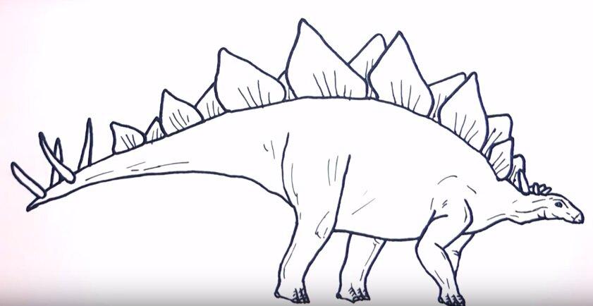 картинки динозавров поэтапно карандашом для пост видимо делался