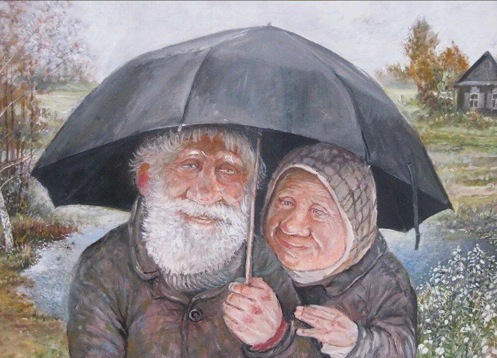 Смешная картинка деда или бабы