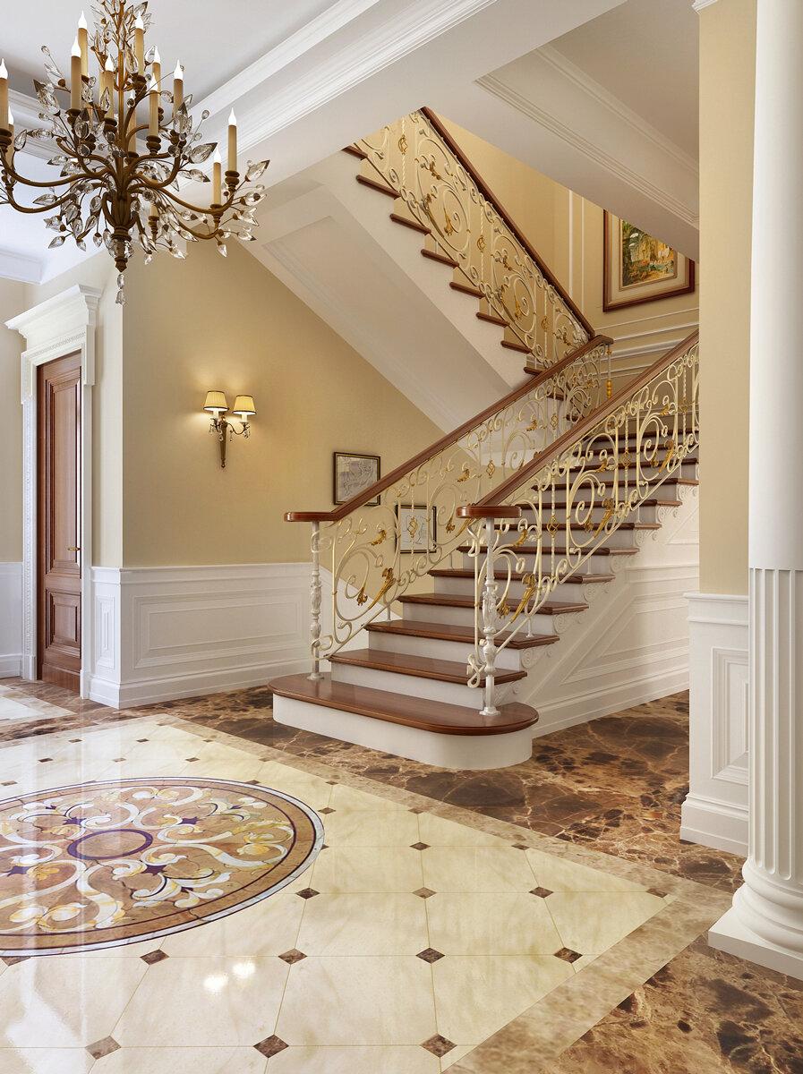 дизайн холла с лестницей фото уголька решили, что