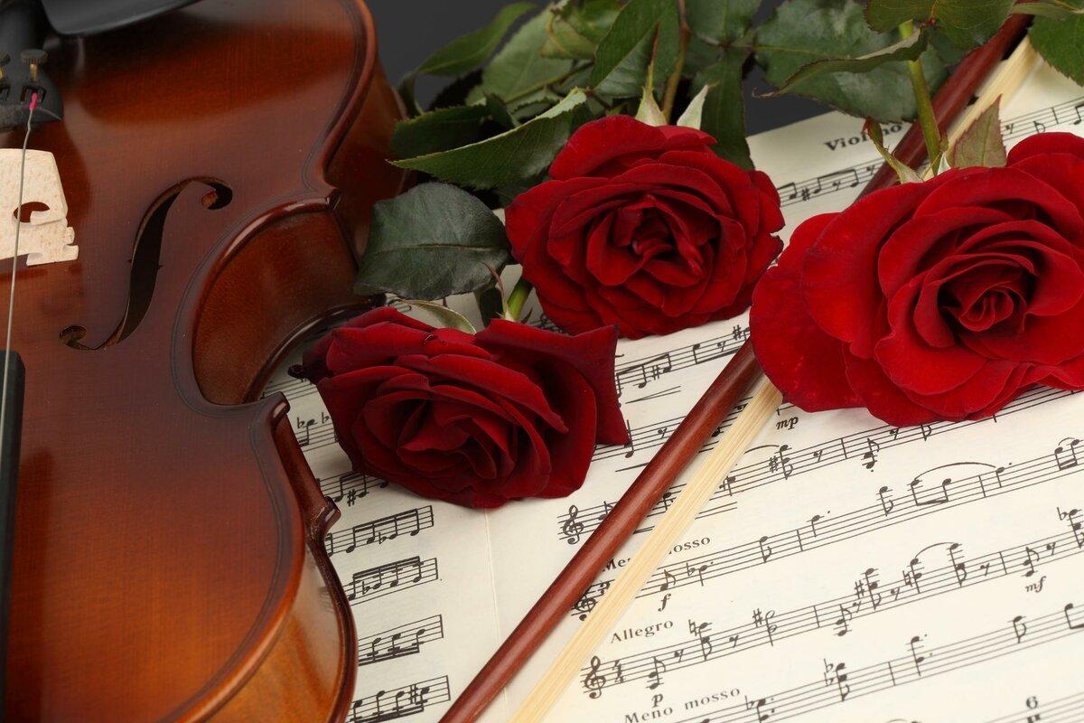 Музыкальные розы открытки, открытки днем рождения