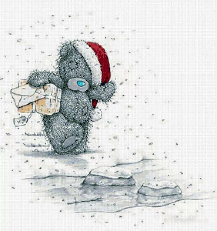 Это картинки, открытки на новый год с мишками те