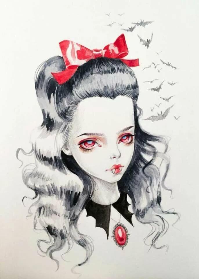 Вампиры нарисованные картинки