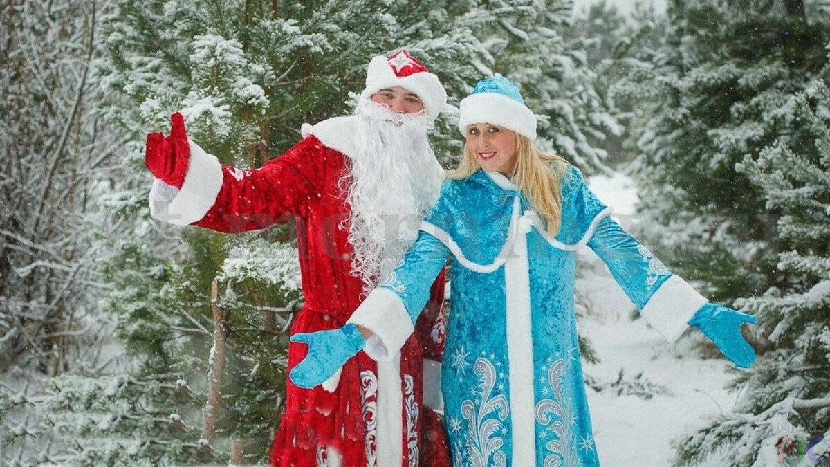 Открытка, картинки снегурочки и деда мороза на новый год