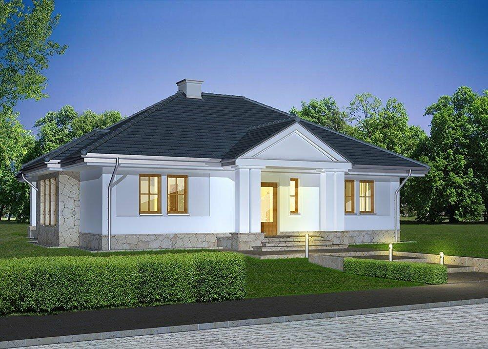 Красивые одноэтажные дома в картинках