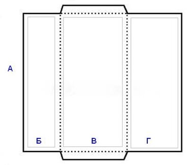 размер вытянутой открытки