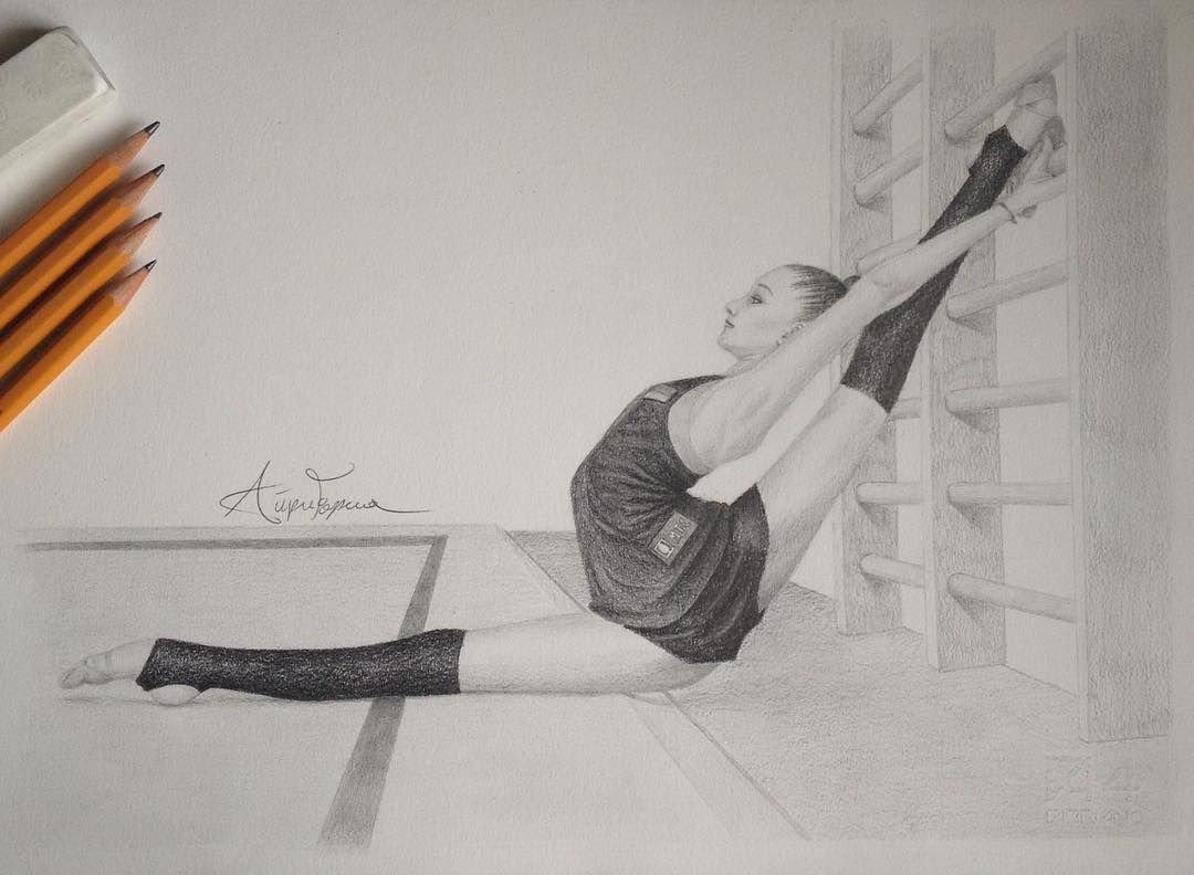 Художественная гимнастика картинки для срисовки карандашом