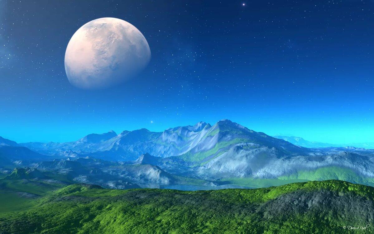 картинки пейзажи планеты там окажется