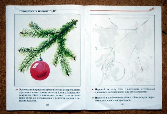 Открытый урок изо в 3 кл новогодняя открытка