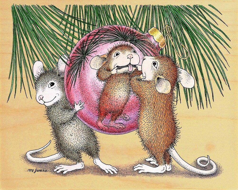 гости новогодняя открытка крыса время