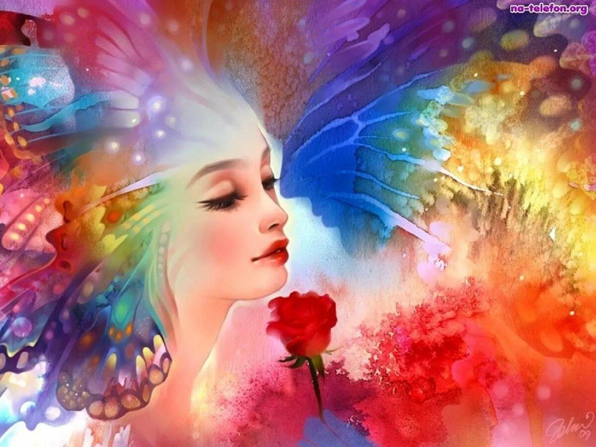 Женщина радуга картинки