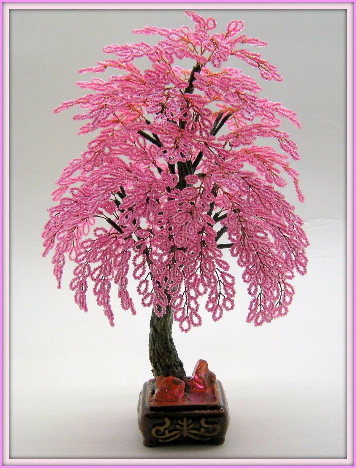 Дерево любви из бисера пошагово с фото
