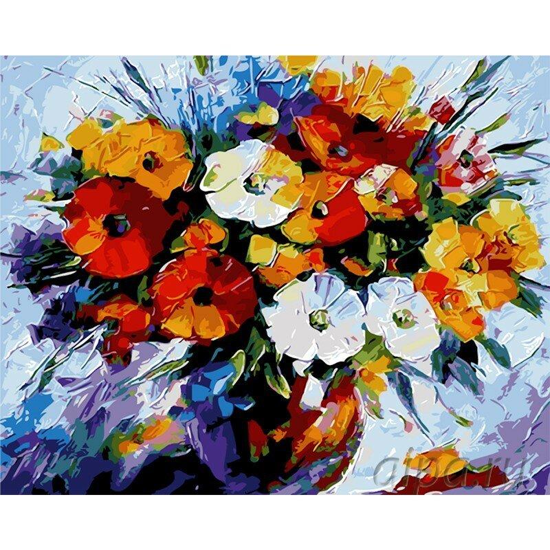«Радужный букет Раскраска картина по номерам акриловыми ...