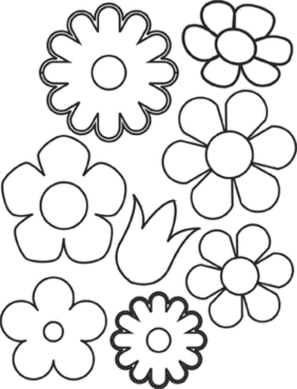 цветы для раскрашивания и вырезания