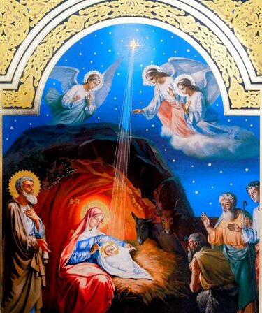 рождество иисуса христа икона