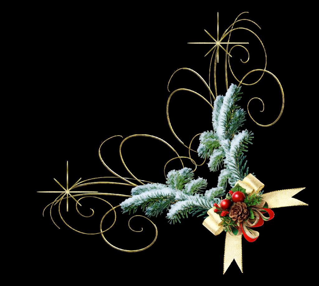 Новогодний декор картинки на белом фоне