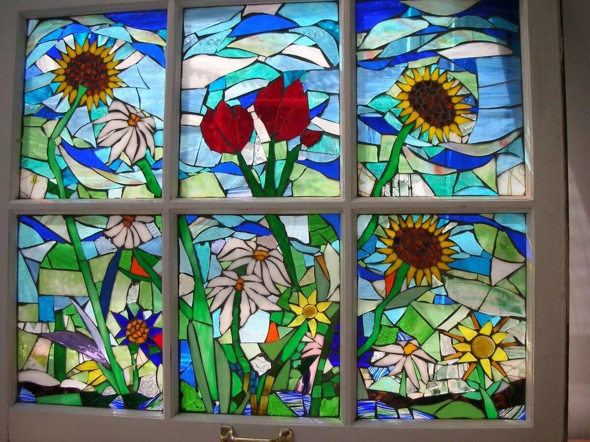Картинки мозаики на окне