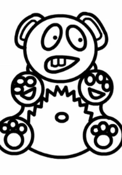 Желейный медведь валерка картинки раскраски