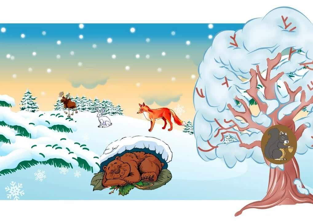 модели звери в зимнем лесу картинки в старшей группе может