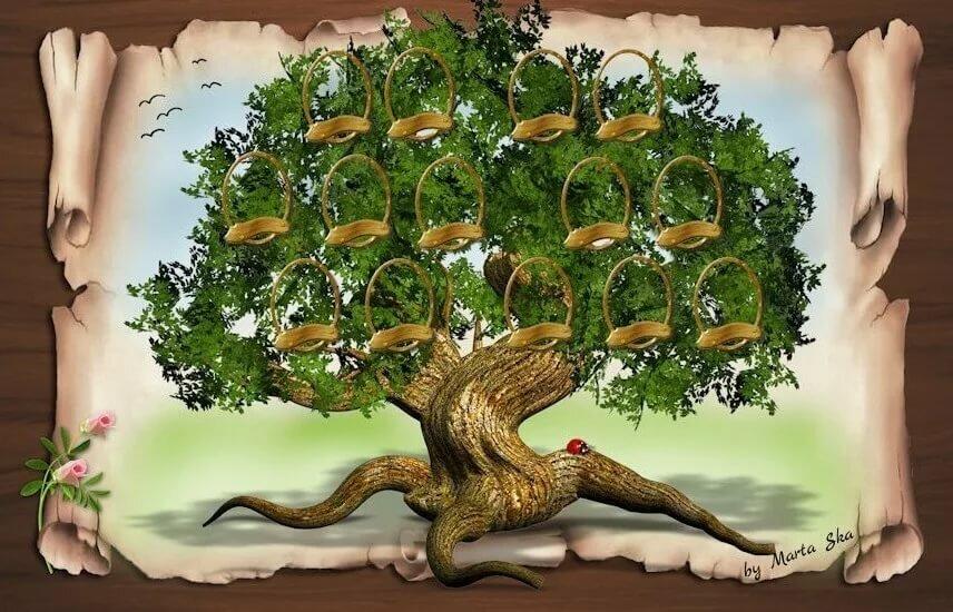 Картинки с древо семьи