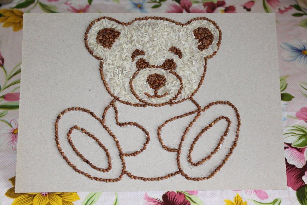 изготовление картинок из крупы плетистых роз саду