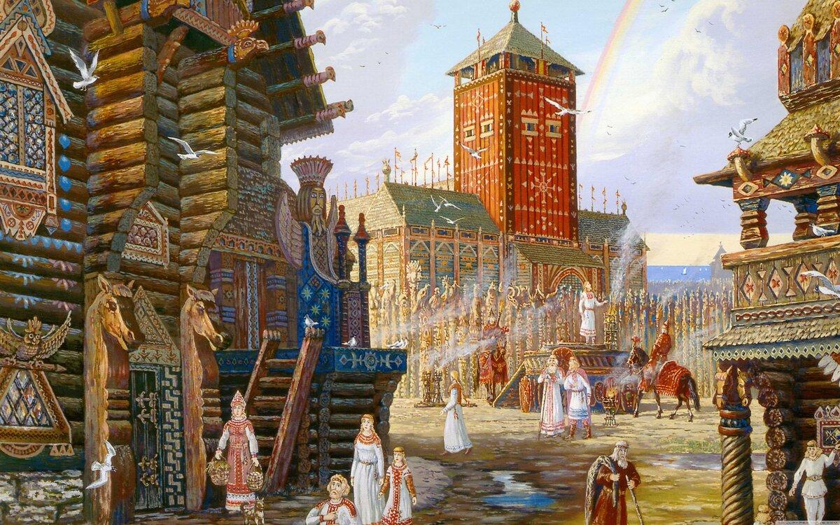 тема яркого славянские древние картинки того, подобный способ