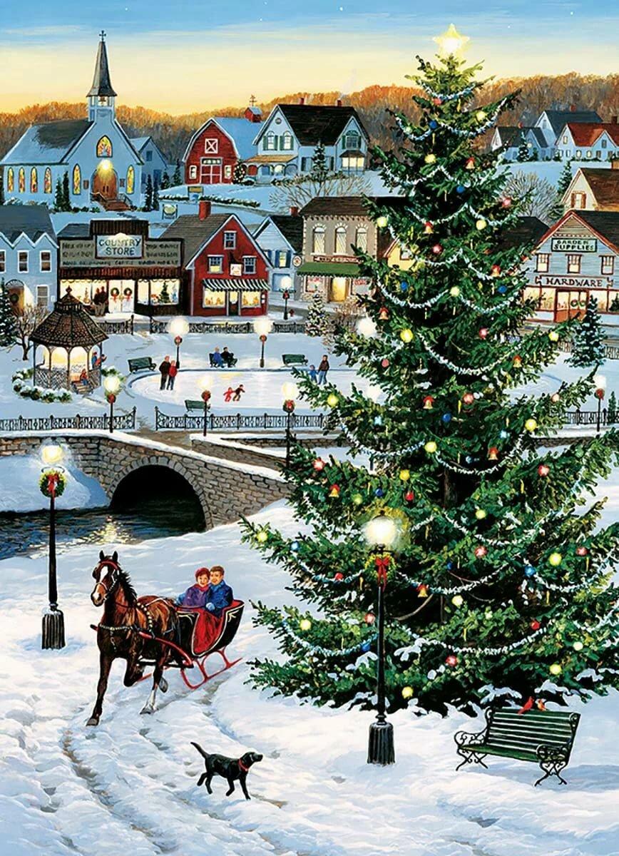 Новогодние открытки швейцария
