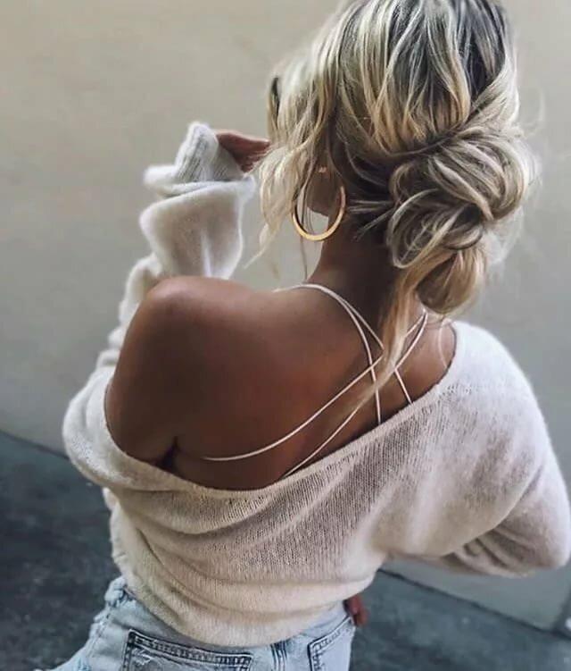 Картинки и девушка блондинка со спины на аву