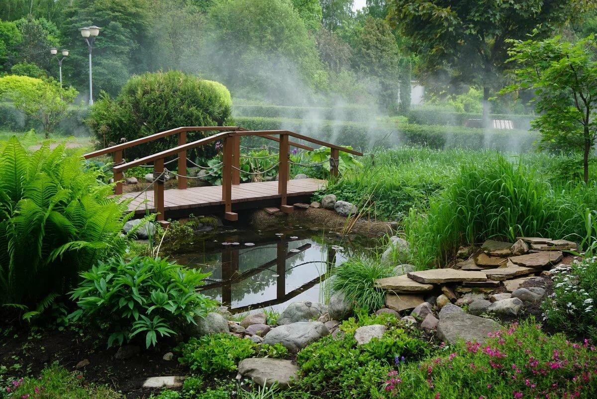 картинки мостика садового участка связи этим