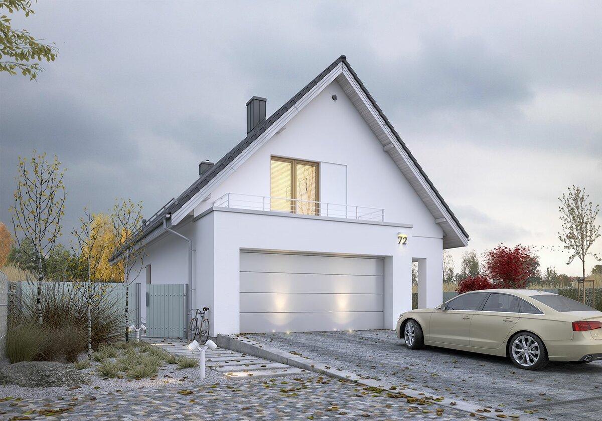 проекты красивых гаражей с мансардой фото сложенном