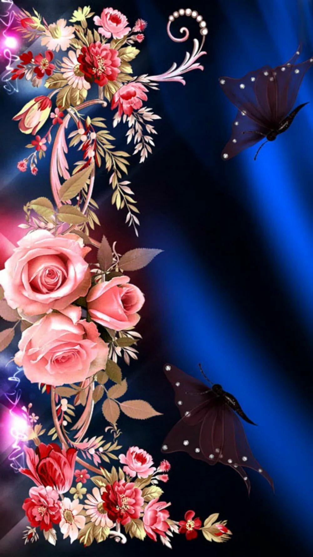 Картинки для телефона цветы анимация