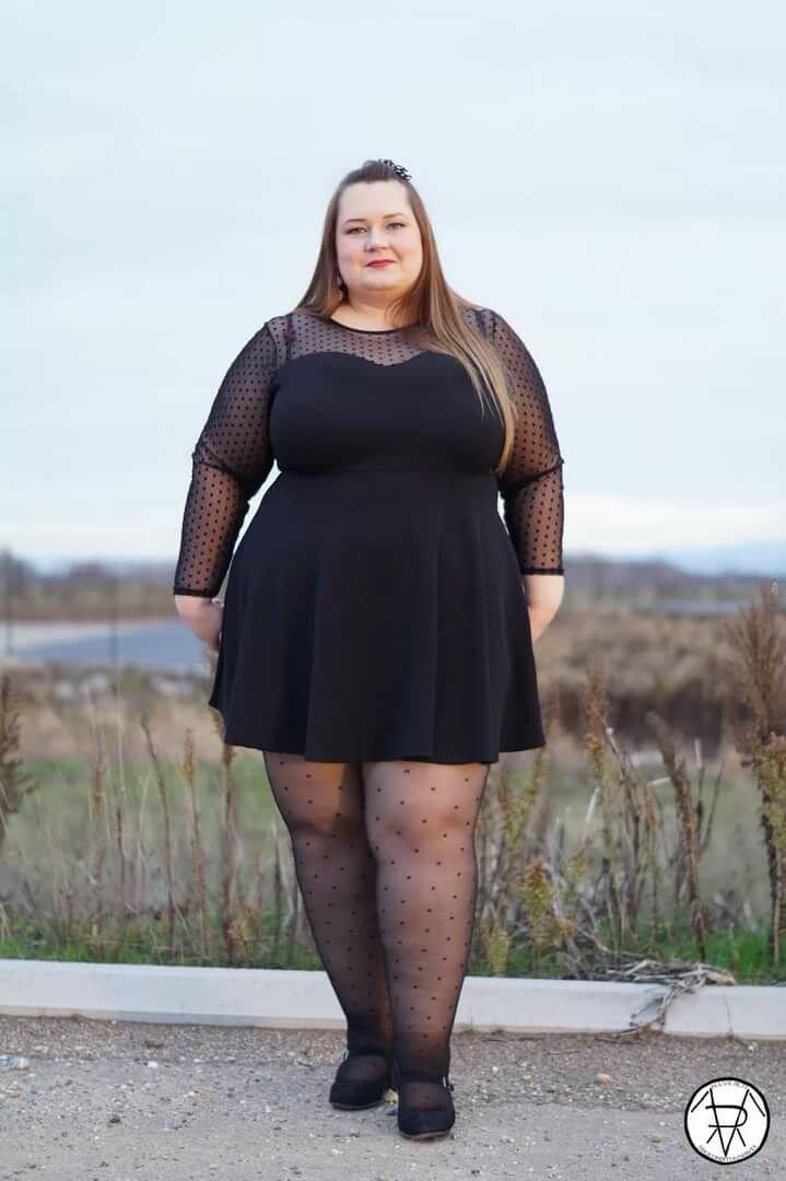 колготки на толстой женщине - 7